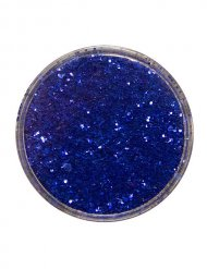 Blauwe glitters