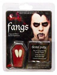 Witte vampiertanden met lijm voor volwassenen
