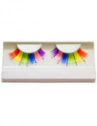 Veelkleurige regenboog wimpers