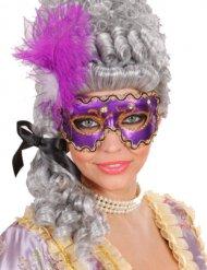 Gemaskerd bal masker met veren voor vrouwen