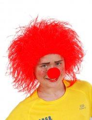 Rode clown pruik voor kinderen