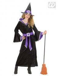 Zwart en paars heks kostuum voor meisjes