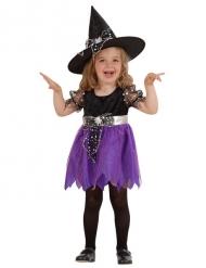 Kleine paarse heks kostuum voor meisjes