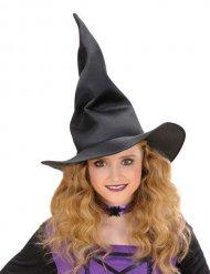 Zwarte vouwbare heksenhoed voor kinderen