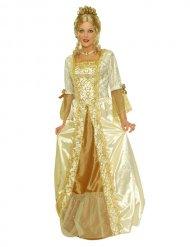 Goudkleurig chique barok kostuum voor vrouwen