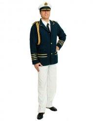Kapitein uniform kostuum voor mannen