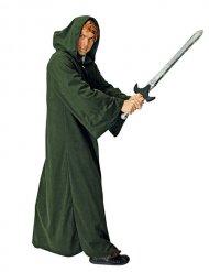 Deluxe groene meester van het kwaad cape voor volwassenen