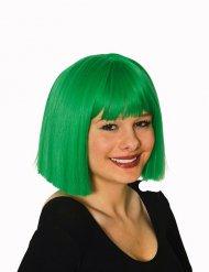 Groene vierkante pruik voor vrouwen
