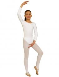Witte body met mouwen voor kinderen