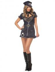 Sexy politie kostuum met kant voor vrouwen