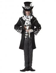 Zwart gekke hoedenmaker kostuum voor mannen