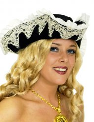 Piratenhoed met sluier en kant voor vrouwen