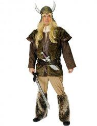 Bruine viking beenwarmers voor volwassenen
