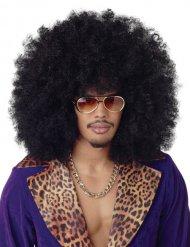 Zwarte maxi afro pruik
