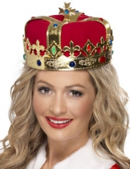 Koninginnen kroon met nep edelstenen