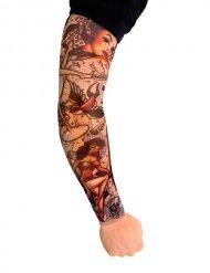 Veelkleurige tattoo voor korte armen