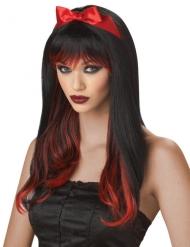 Rode en zwarte duistere pruik voor vrouwen
