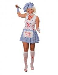 Sexy killer chef kostuum voor vrouwen