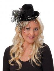 Mini hoge hoed met veren voor vrouwen