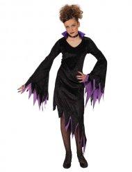 Gekarteld paars vampier kostuum voor meisjes