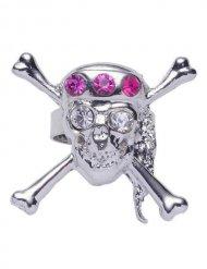 Piraten doodskop ring