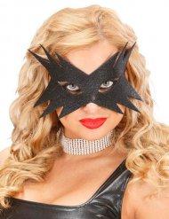 Zwart glitter masker voor vrouwen