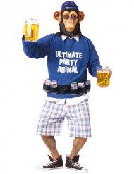 Apen kostuum met bier riem voor volwassenen