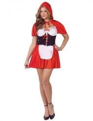 Sexy roodkapje kostuum met korset voor vrouwen