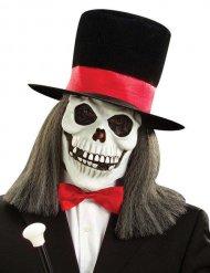 Skelet masker met hoed voor volwassenen