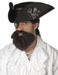 Bruine piratenbaard voor mannen