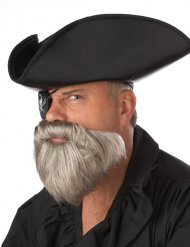 Grijze piraten baard voor mannen