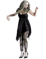 Sexy zwart zombie kostuum voor vrouwen