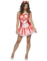 Sexy Valentijn kostuum kostuum voor dames