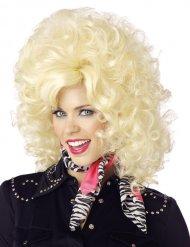 Blonde country zangeres pruik voor volwassenen