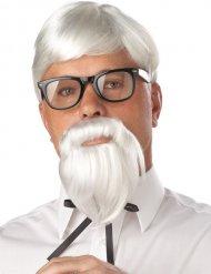 Witte professor pruik met baard voor volwassenen