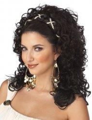 Griekse godin pruik met zwarte haren voor vrouwen