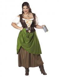 Middeleeuwse serveerster kostuum voor vrouwen