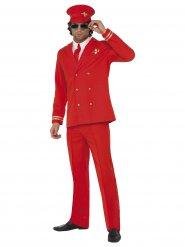 Rood vliegtuigpiloot kostuum voor volwassenen
