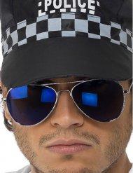Donkerblauwe politie zonnebril voor volwassenen