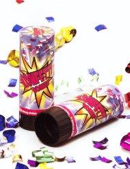 Veelkleurige confetti kanon