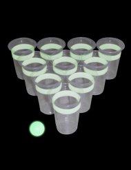 Fluorescerende beerpong set