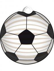 Zwarte en witte voetbal lampion