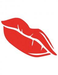 Rode lippen schminkstencil