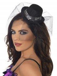 Chique mini hoed met sluier voor vrouwen