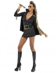 Zwart Elvis Presley™ kostuum voor vrouwen