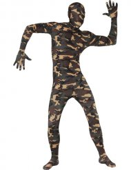 Militair camouflage second skin kostuum voor volwassenen