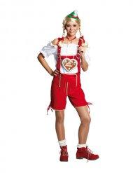 Oktoberfest lederhosen dames kostuum