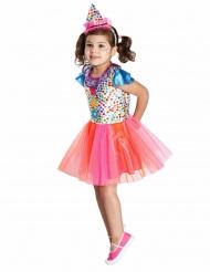 Veelkleurig clownskostuum met stippen voor meisjes