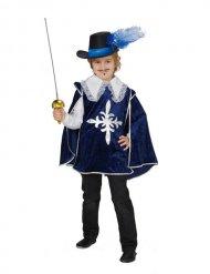 Blauw musketier kostuum voor jongens
