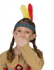 Indianen hoofdband met veren voor kinderen